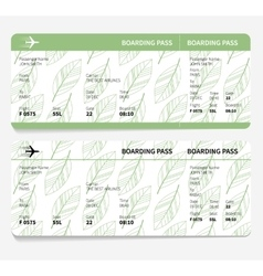 Ticket boarding pass vector