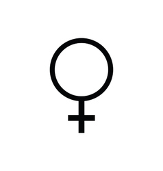 Female symbol icon vector