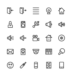User interface colored line icons 50 vector