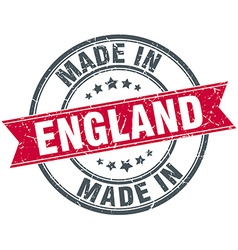 Made in england red round vintage stamp vector