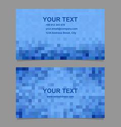Blue mosaic business card template design vector