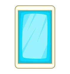 Blue smartphone icon cartoon style vector