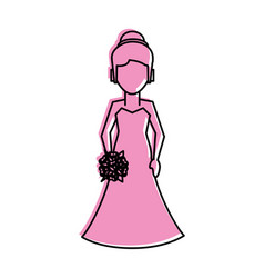Bride avatar icon image vector