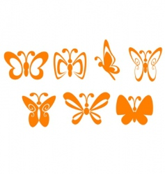 butterfly symbols vector image