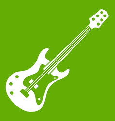 classical electric guitar icon green vector image