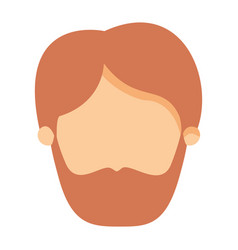 colorful image caricature front view faceless man vector image vector image