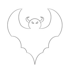 contour image of a bat drawing for coloring vector image vector image