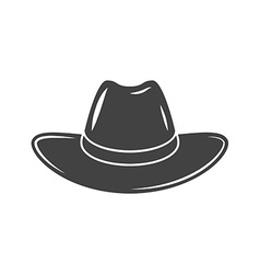 Cowboy hat Black icon logo element isolated on vector image