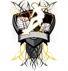 design heraldry vector image vector image