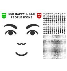 Face icon with bonus vector