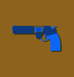 Flat icon design collection military handgun vector