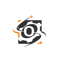 Gear solution logo letter o vector