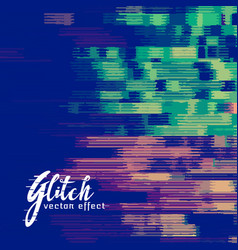 Glitch signal error background vector