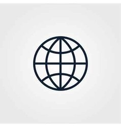 Globe icon simple vector