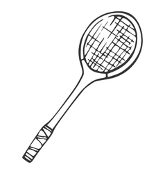 Inventory for badminton Racket vector image