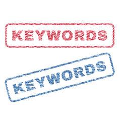 Keywords textile stamps vector