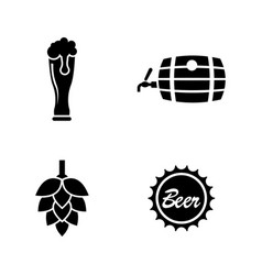 malt beer simple related icons vector image vector image
