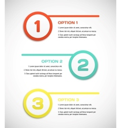 One two three - progress steps vector image vector image