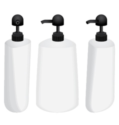Plastic bottle with black dispenser design set vector