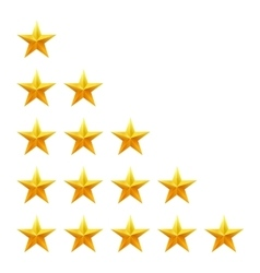 Rating stars set Web or mobile User feedback vector image vector image