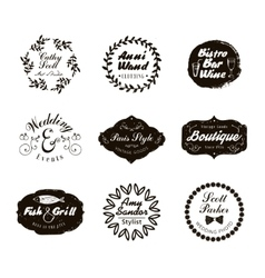 Retro Vintage Logotypes and insignias set vector image vector image