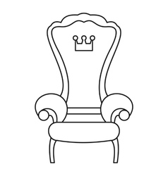 Royal throne icon outline style vector image