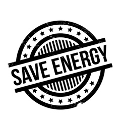 Save energy rubber stamp vector