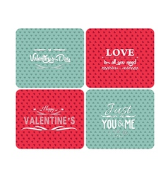 set happy valentines day and weeding cards vector image vector image