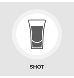 Shot drink icon flat vector