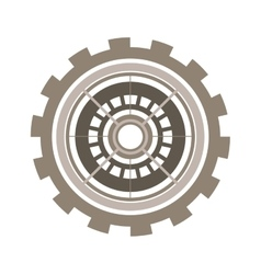 Silhouette gear wheel with crown and pinion vector