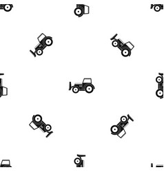 Skid steer loader pattern seamless black vector