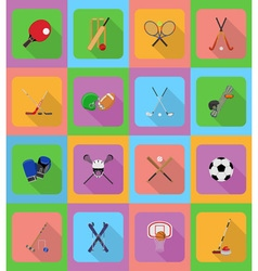 sport flat icons 20 vector image vector image
