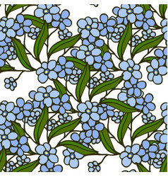 stylish beautiful floral seamless pattern vector image vector image