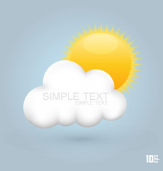 Sun in the cloud vector