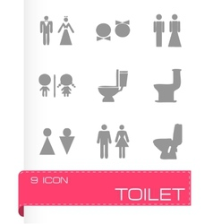 Toilet icon set vector