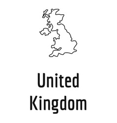 united kingdom map thin line simple vector image