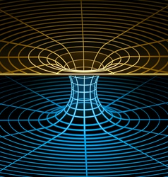 wireframe symbol - wormhole vector image