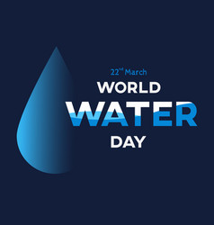 world water day background greeting card or vector image vector image