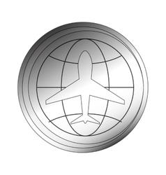 aeronautical emblem icon vector image