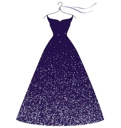 Evening party dress fashion vector