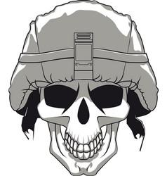 military skull vector image