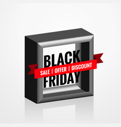 3d style black friday sale element design vector