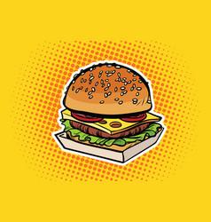 Burger pop art vector