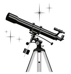 observing telescope vector image