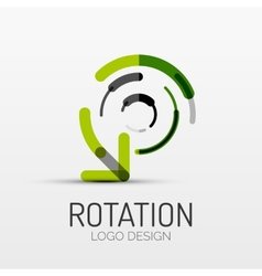 Rotation arrow company logo business concept vector