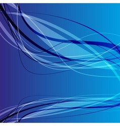 Blue wave curve background vector