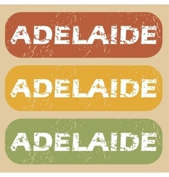 Vintage adelaide stamp set vector