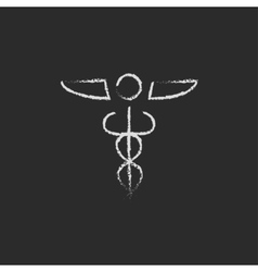 Medical symbol icon drawn in chalk vector