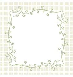 Square floral frame background vector
