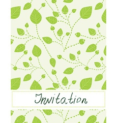 Invitation blank with leaves pattern - vector